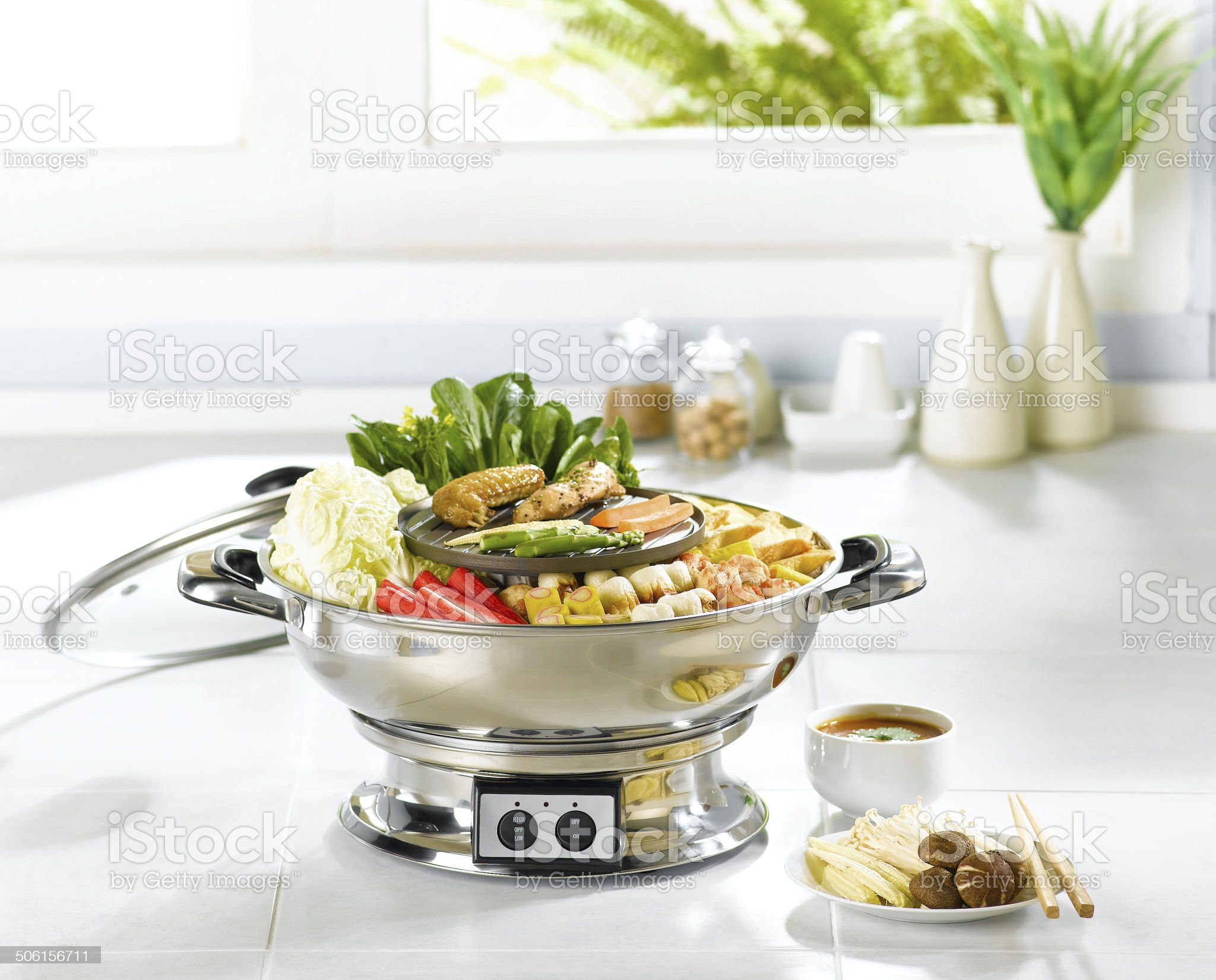 Japanese food style in the kitchen interior royalty-free stock photo