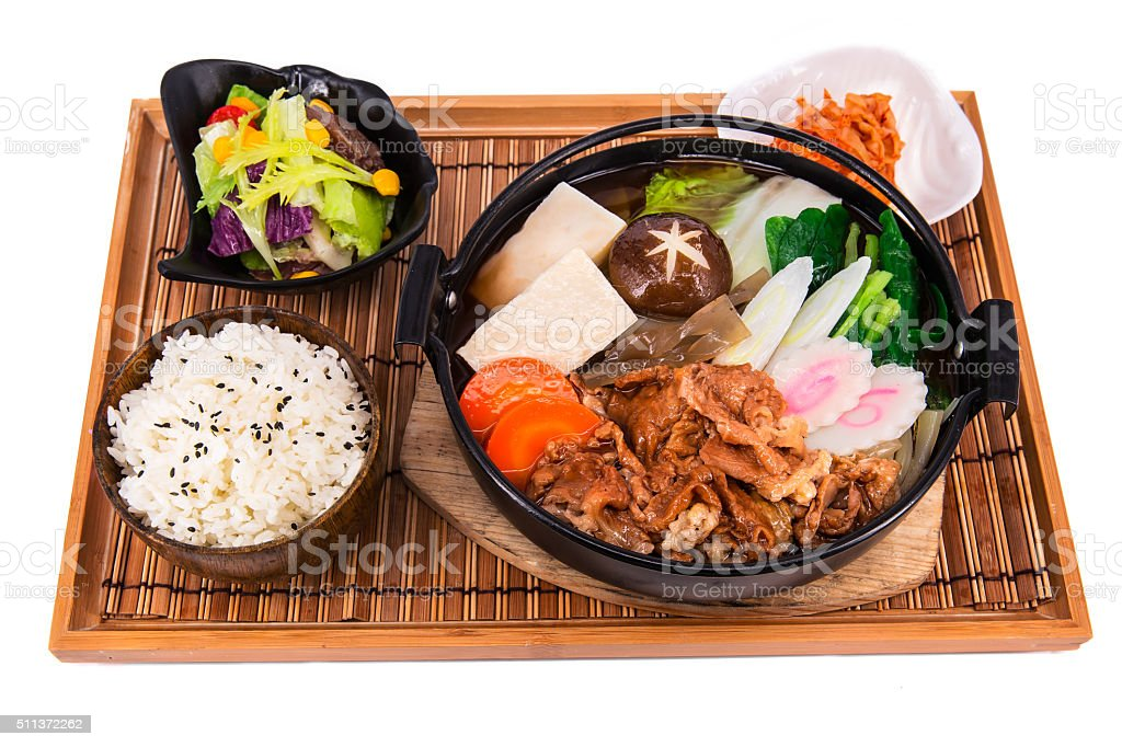 Japanese Food, Sukiyaki stock photo