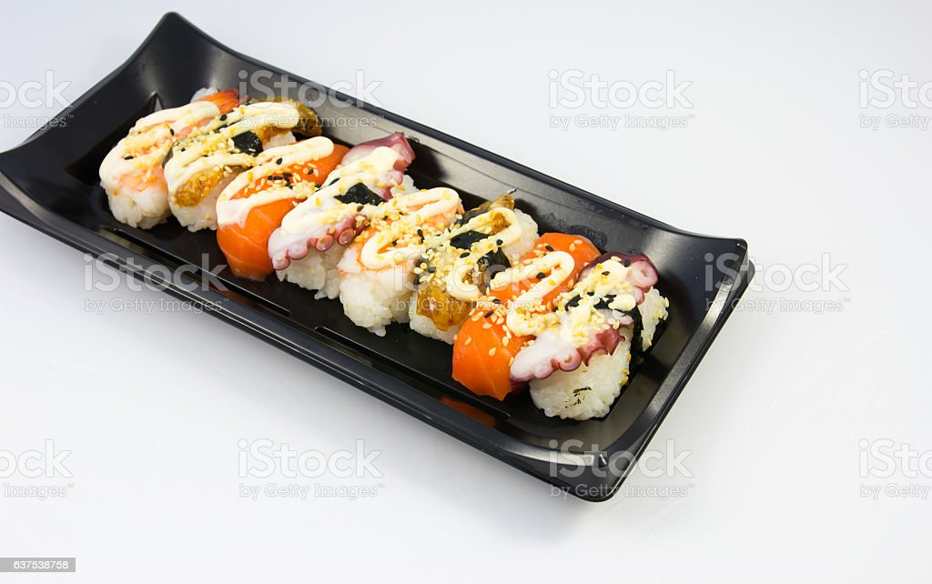 Japanese food sushi stock photo