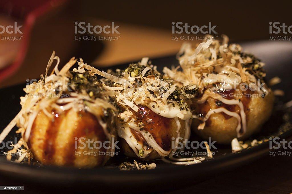 Japanese food, Takoyaki stock photo