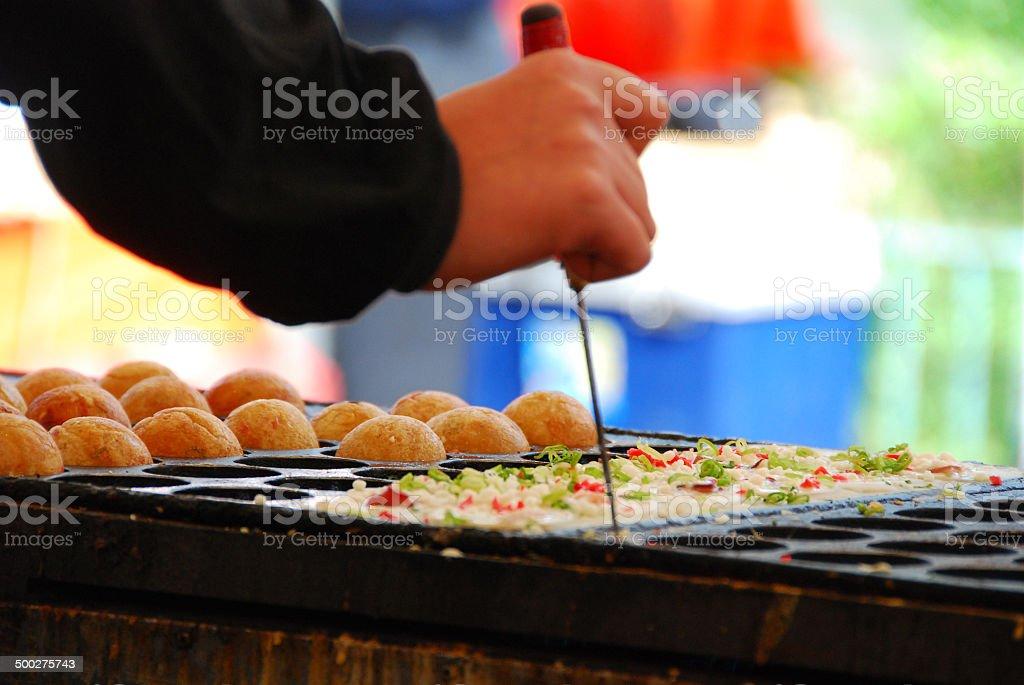 Japanese food Takoyaki stock photo