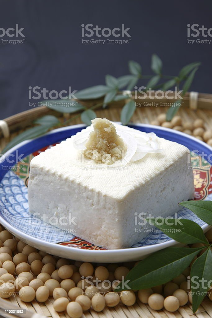 Japanese food TOFU royalty-free stock photo