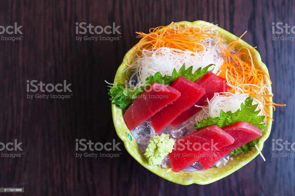 Japanese food tuna stock photo