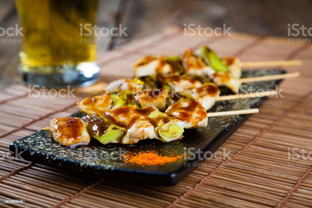 Japanese Food Yakitori stock photo