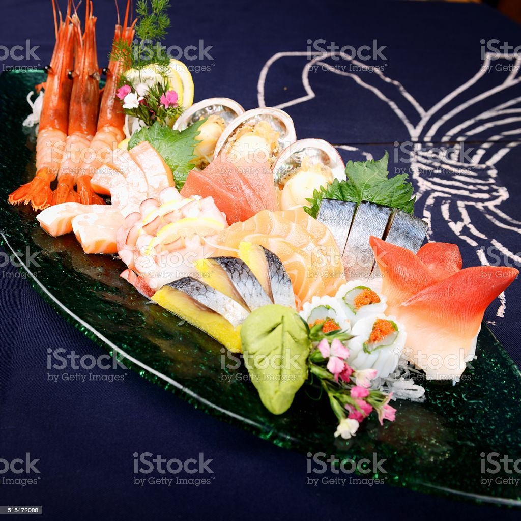 Japanese food-clam stock photo