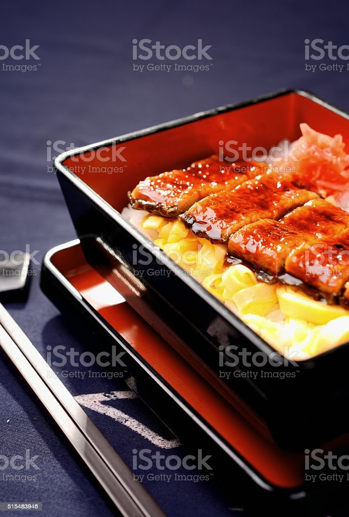 Japanese food-eel rice stock photo