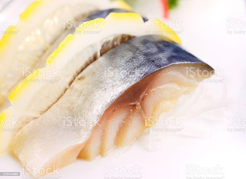 Japanese food-salmon stock photo