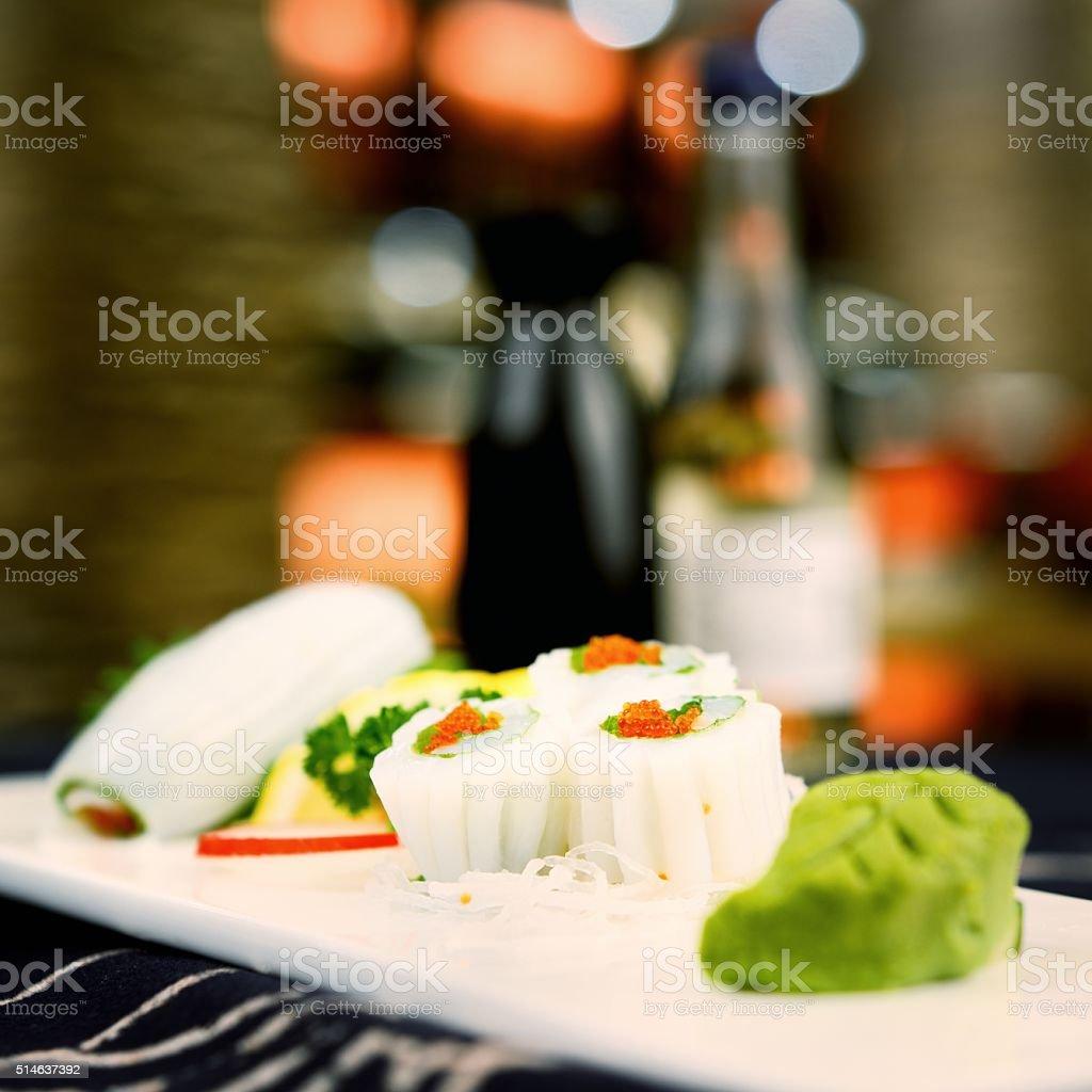 Japanese food-Squid stock photo