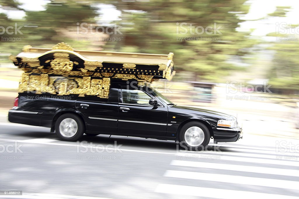 Japanese funeral car stock photo