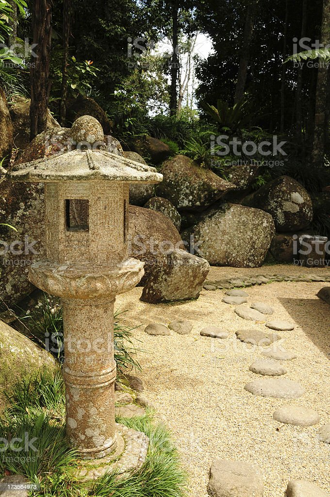 Japanese garden - decoration royalty-free stock photo