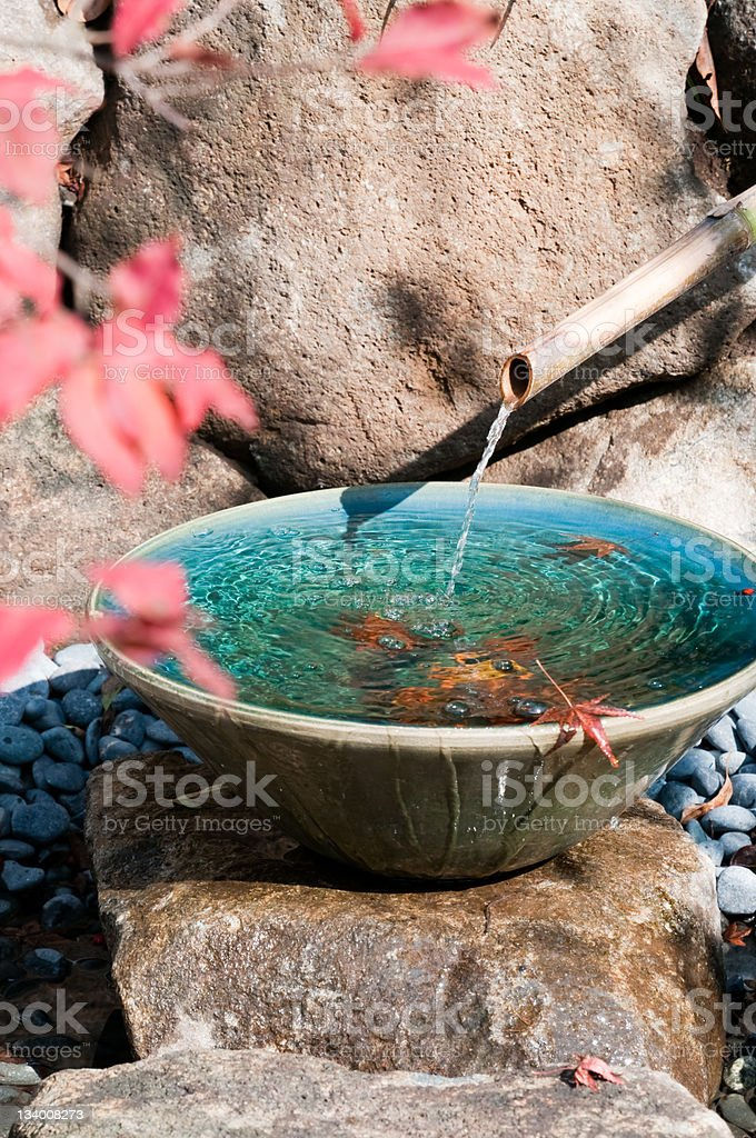 Japanese garden detail stock photo