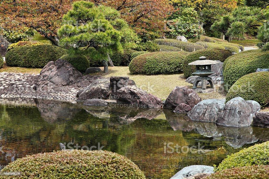 Japanese garden, Kyoto stock photo
