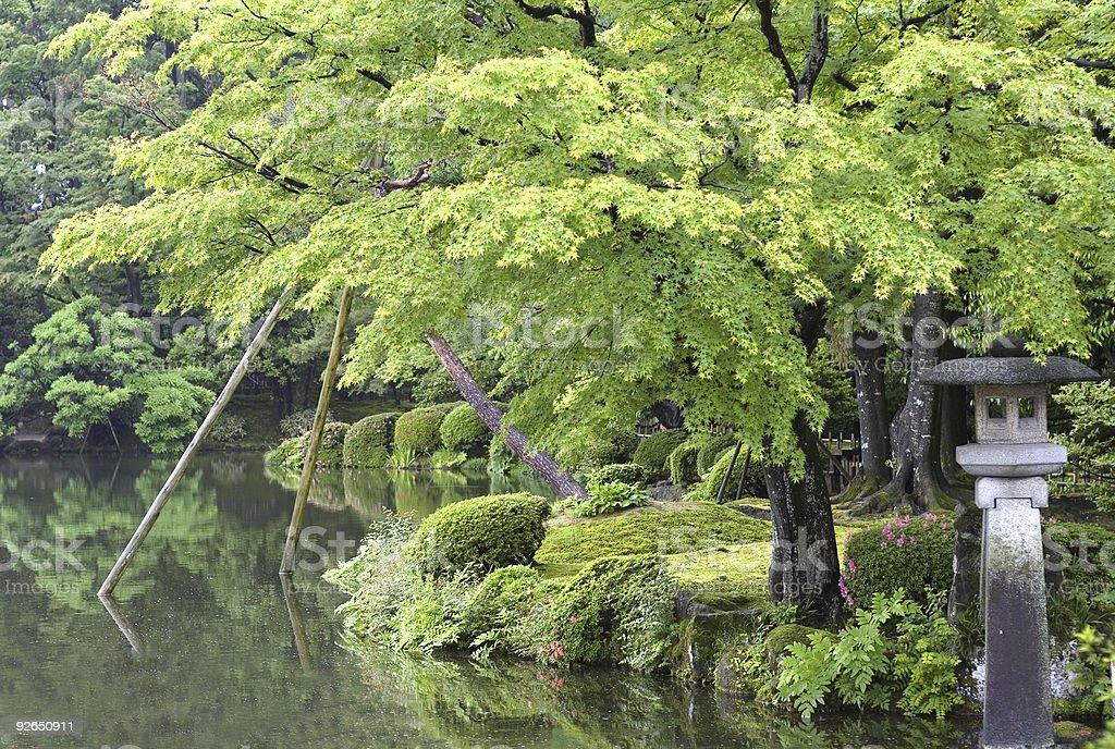 Japanese garden lantern royalty-free stock photo
