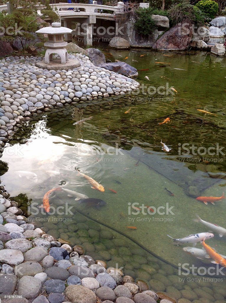 Japanese Garden, Monaco stock photo