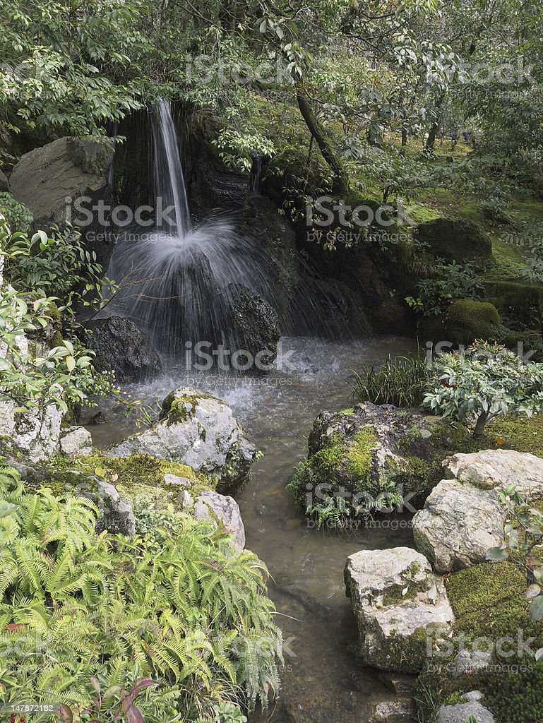 Japanese Garden Stream royalty-free stock photo