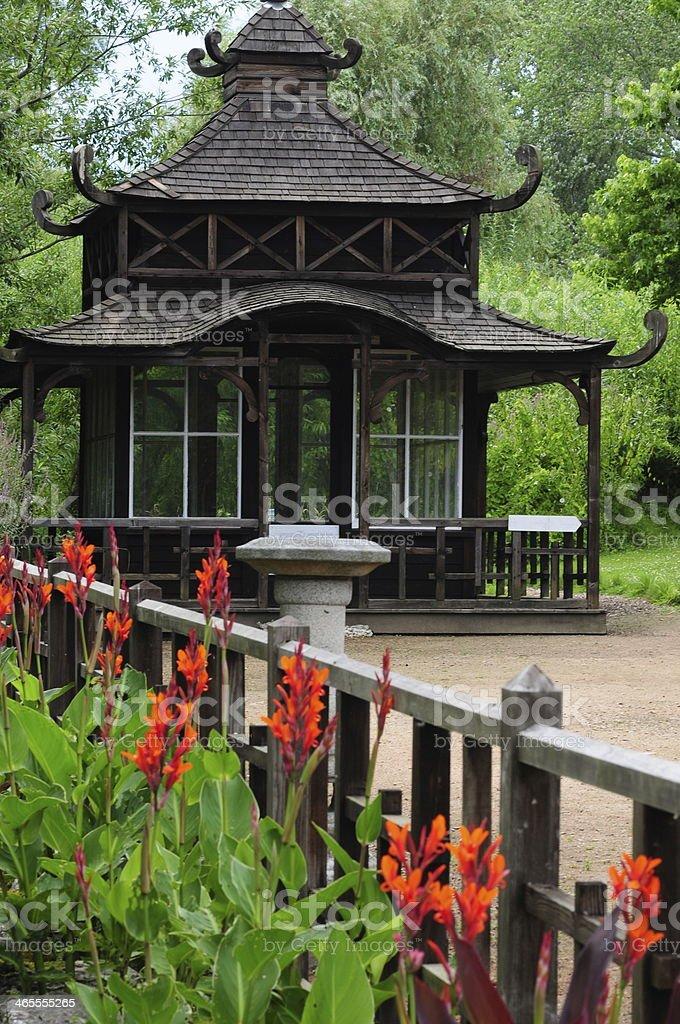 Japanese garden, U.K. stock photo