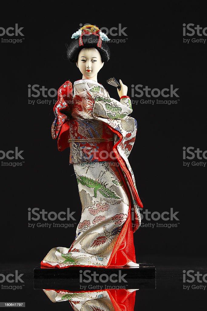 Japanese geisha doll royalty-free stock photo