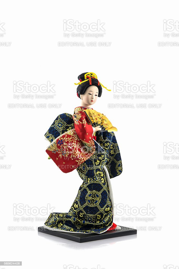 Japanese geisha dolls. stock photo