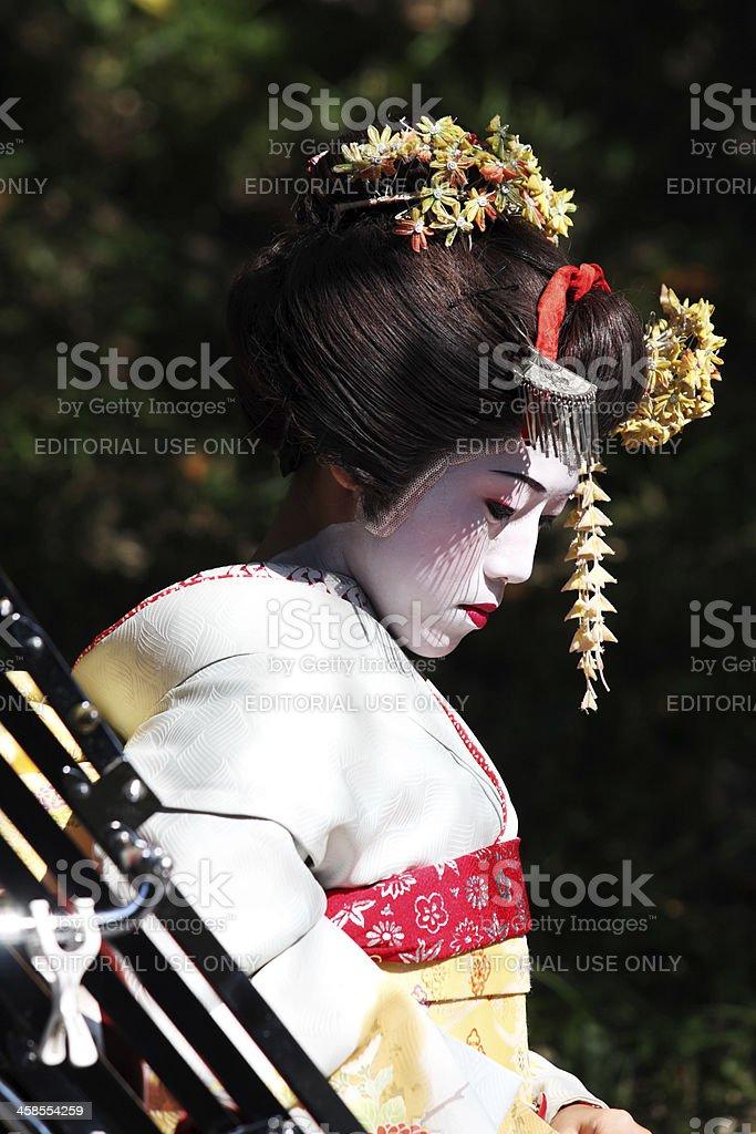 Japanischer geisha Lizenzfreies stock-foto