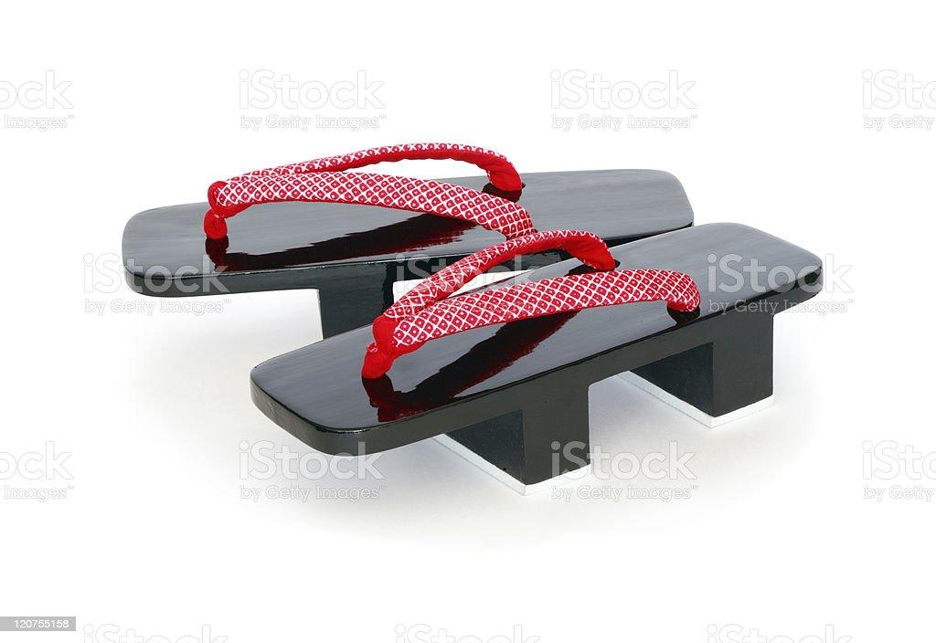 Japanese Geta Sandals stock photo