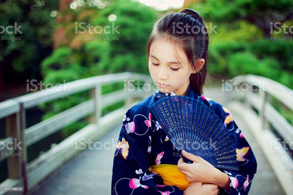 Japanese girl portrait stock photo
