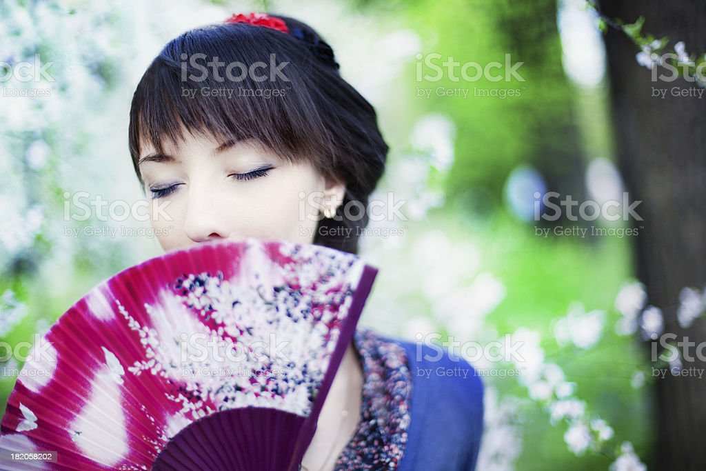Japanese girl portrait royalty-free stock photo