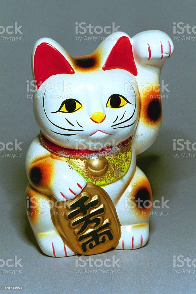 Japanese Good Luck Cat bank royalty-free stock photo