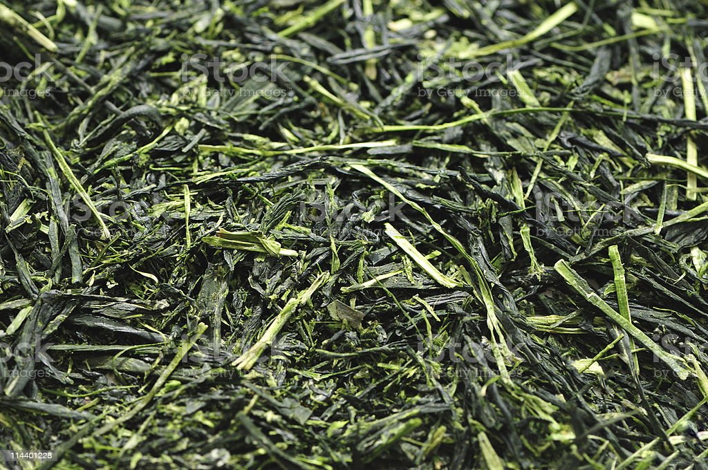 Japanese Green Tea Background stock photo