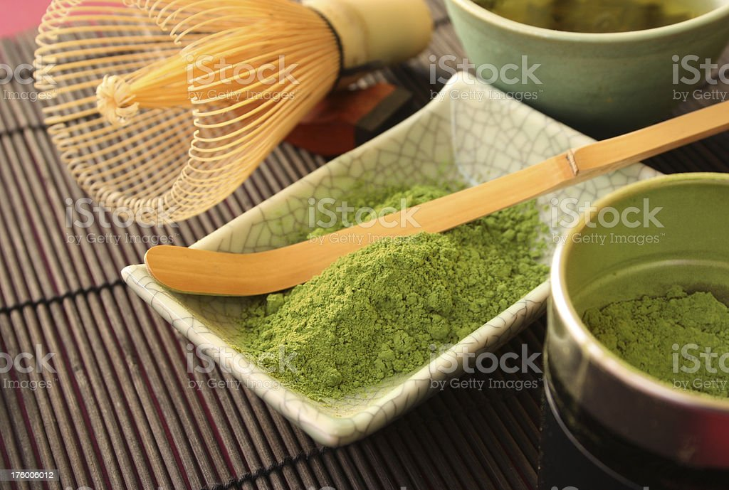 Japanese Green Tea royalty-free stock photo