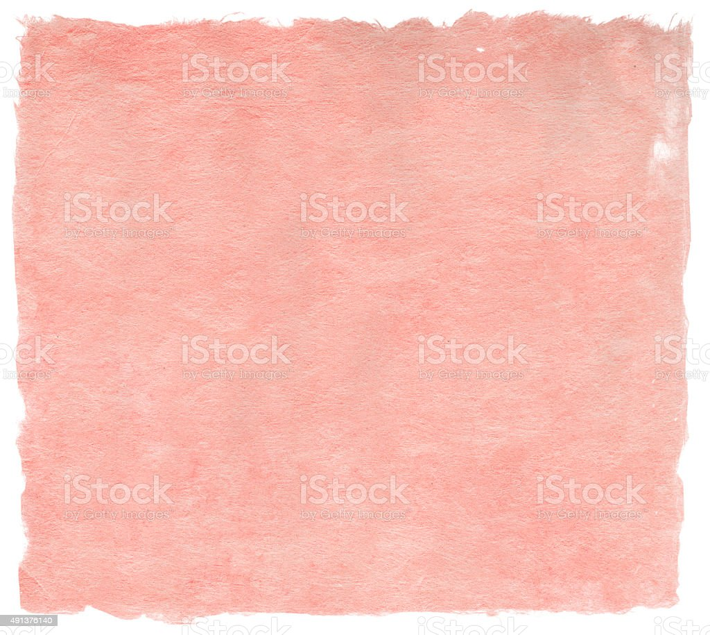 Japanese handmade paper in delicate pink color, isolated on white stock photo