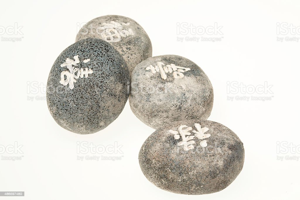 Japanese healing stones, Feng Shui Stones stock photo