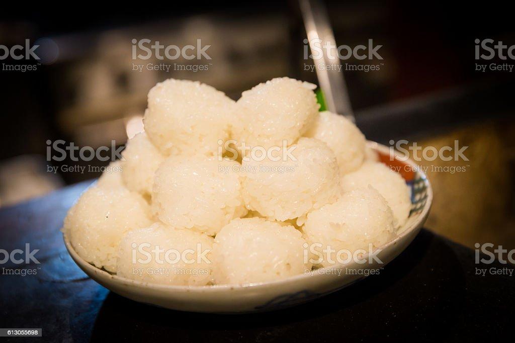 Japanese Healthy Rice ONIGIRI stock photo
