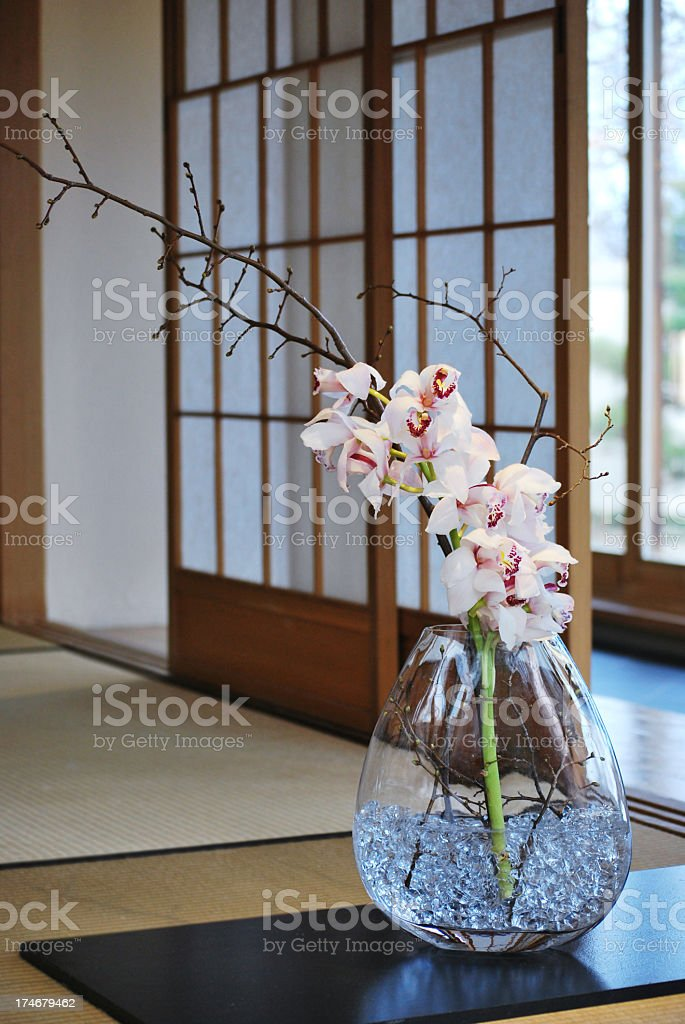 Japanese house detail stock photo