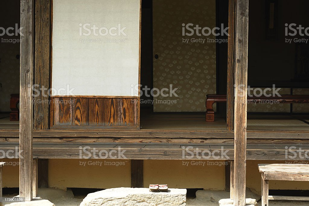 Japanese House stock photo