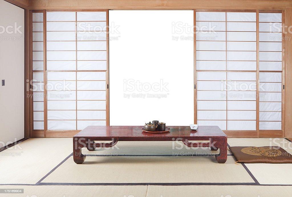 Japanese House, Tokyo, Japan royalty-free stock photo