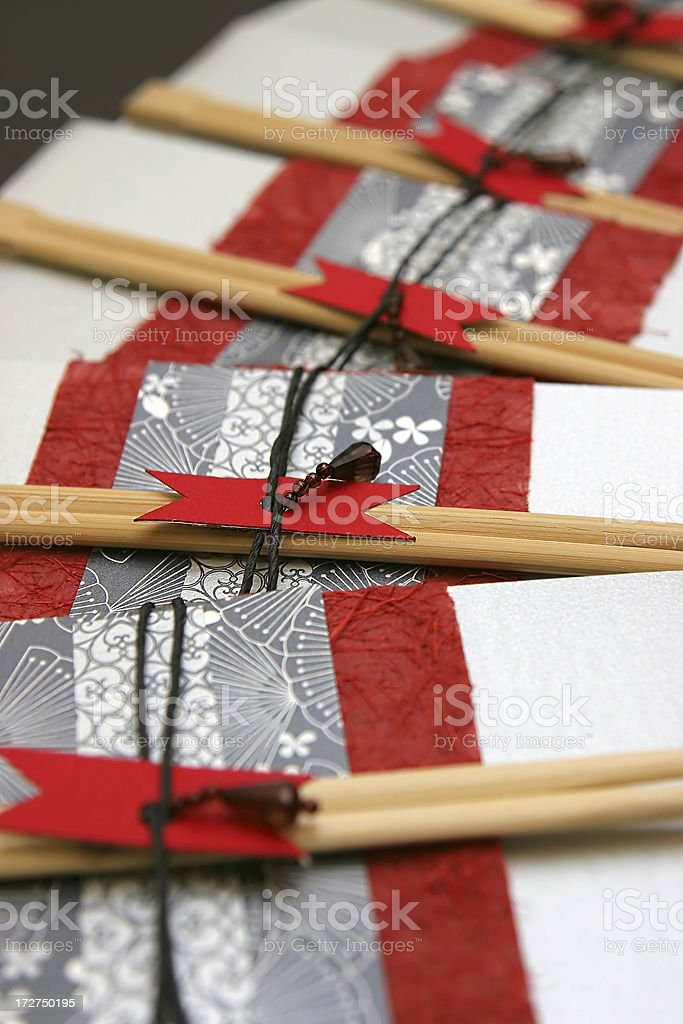 Japanese Invitation royalty-free stock photo