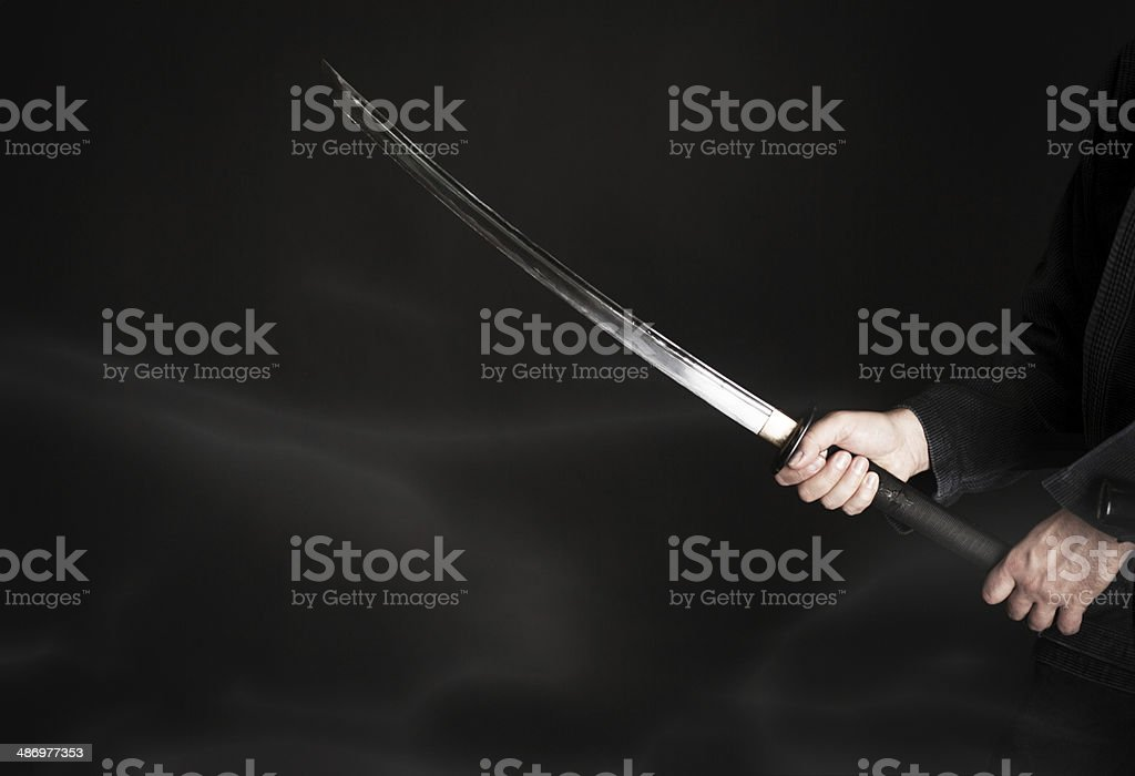 Japanese katana stock photo