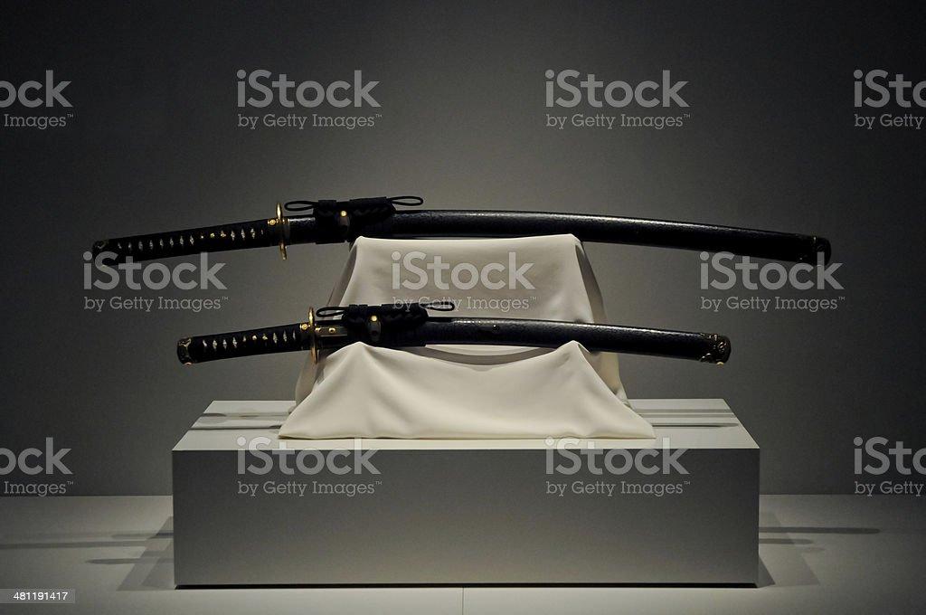Japanese Katana Samurai long swords stock photo