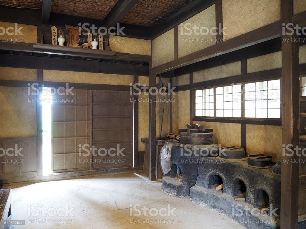 Japanese Kitchen, Old Style stock photo