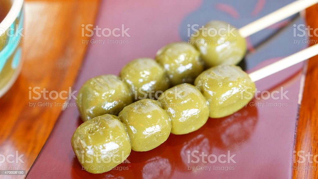 Japanese Kyoto traditional sweets dessert stock photo