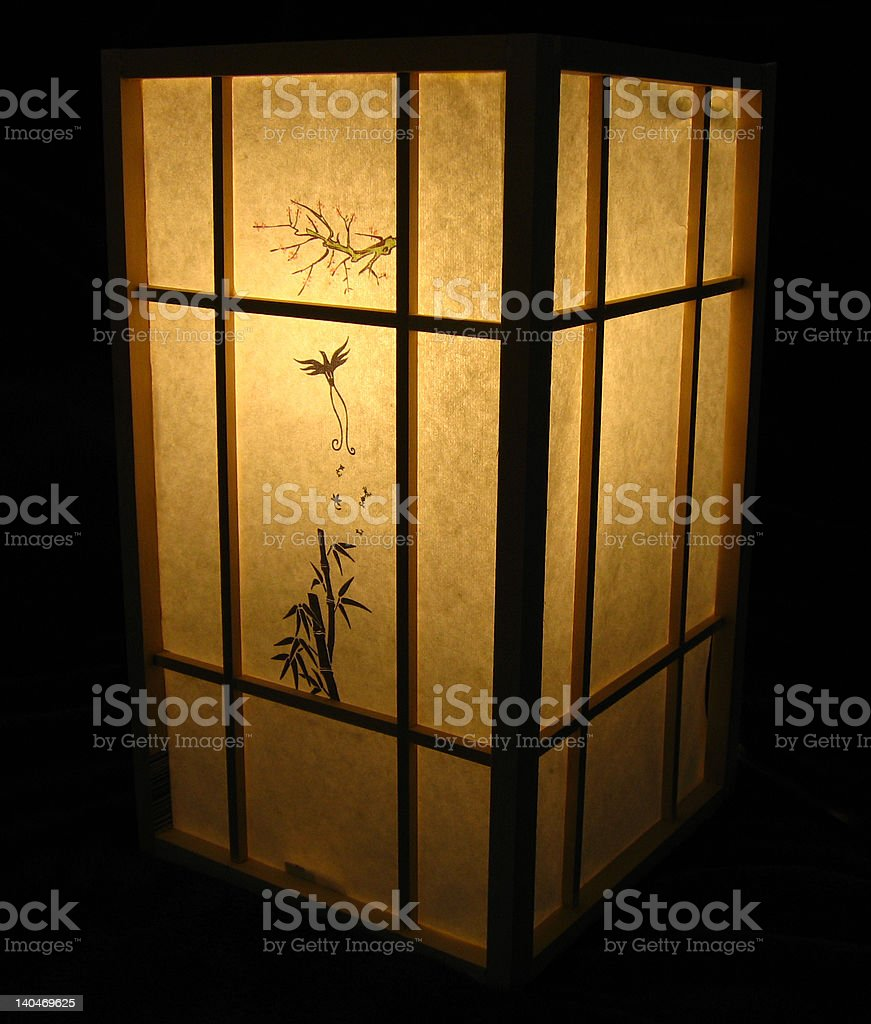 Japanese Lamp royalty-free stock photo