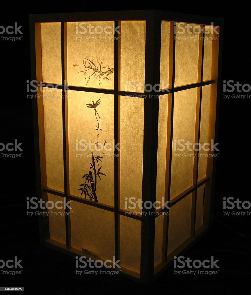 Japanese Lamp stock photo