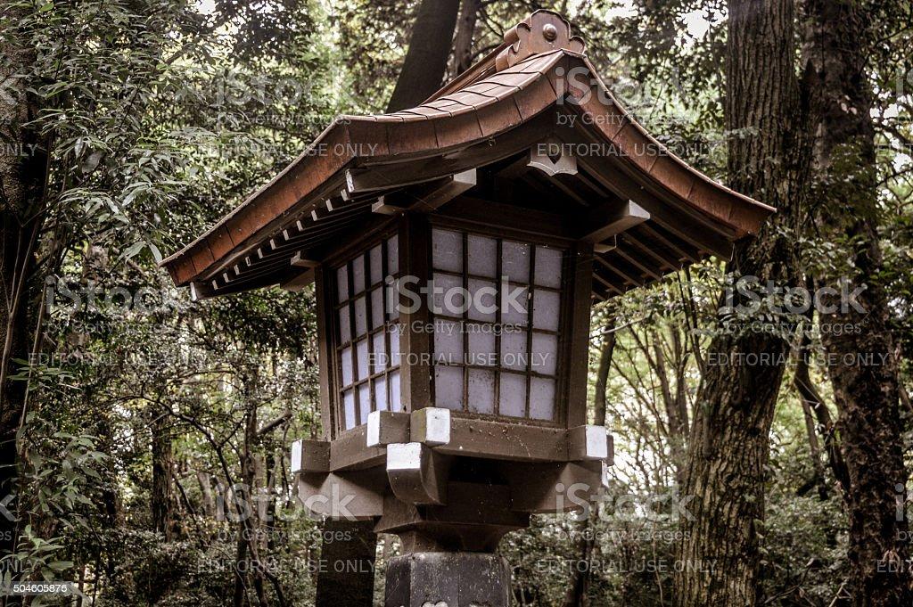 Japanese Lantern at Yoyogi Park in Tokyo stock photo