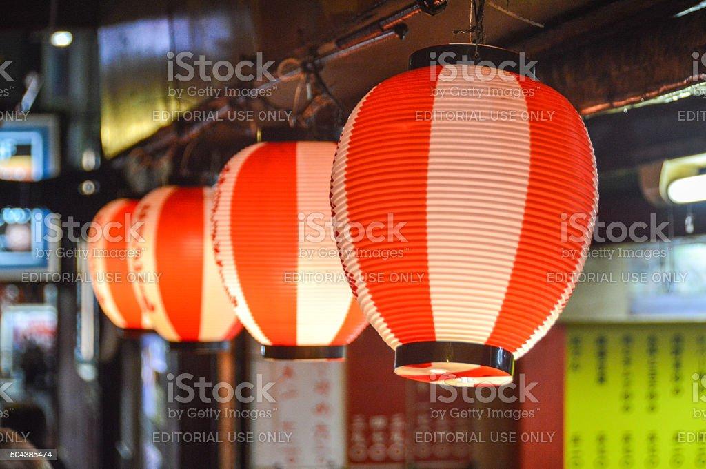 Japanese Lanterns in Shinjuku stock photo