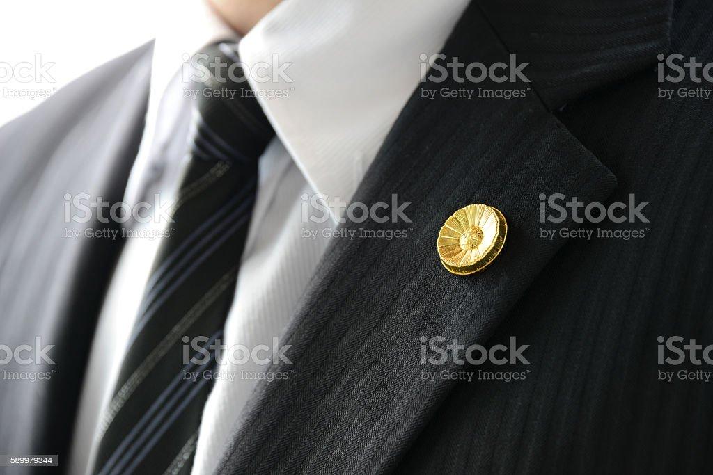 Japanese lawyers' badge stock photo