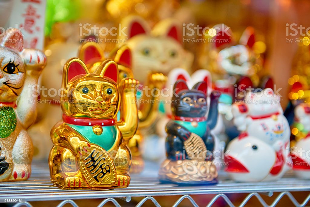 Japanese lucky cat stock photo