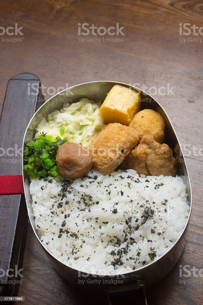 Japanese lunch box Bento stock photo