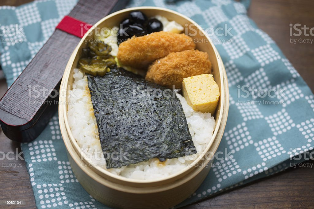 Japanese Lunch Box Noriben royalty-free stock photo
