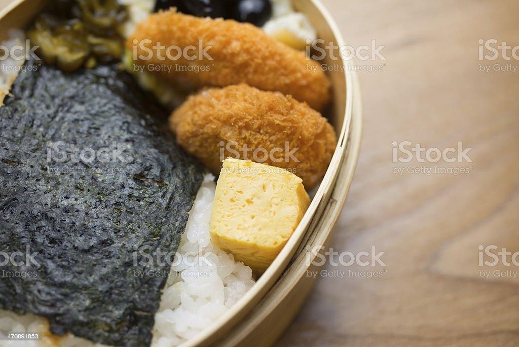 Japanese Lunch Box Noriben royalty-free stock photo