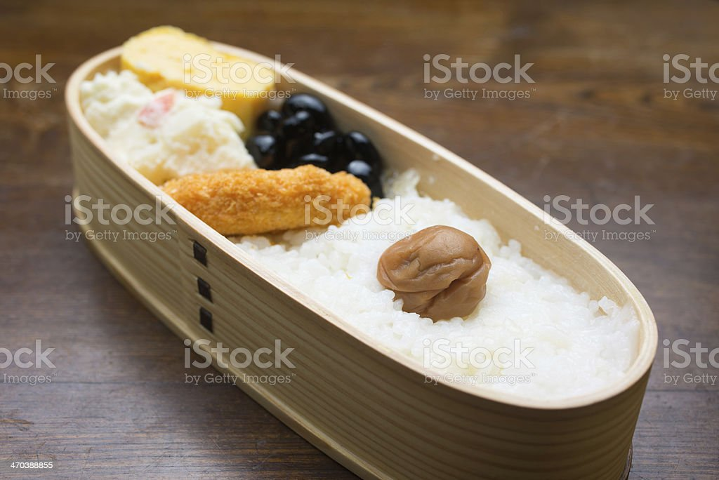 Japanese Lunch Box?Hinomaru bento royalty-free stock photo